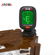 AROMA AT101 Tuner Clip-On Digital Ukulele Acoustic Classic Electric Guitar Tuner Bass Violin Tuners Fancy Black