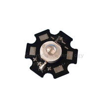 100X high quality 5W UV purple led double chip 390-395nm high power led light source with 20mm aluminum PCB free shipping(China)