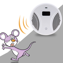 100-240V 45HZ Electronic Pest Repeller Ultrasonic Mouse Killer Mouse Cockroach Trap Mosquito Repeller Insect Rat Spiders Control(China)