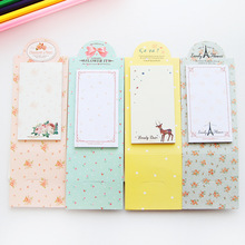 6 pcs/Lot Romantic flower post it sticky Memo note Desk stand sticker Stationery Office material School supplies F970