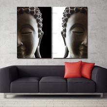 Wall picture art canvas painting home decor 2 penel buddha art canvas Picture Canvas painting Modern living room Decorative(China)