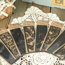 1pcs/lot NEW Vintage World Hollow style Series black bookmark novelty Book marks nice kids fashion gift retail