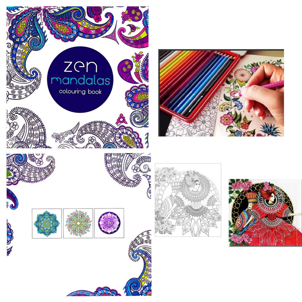 NEW Paperback Children Graffiti Coloring Book Painting English Books Zen Mandalas Painting(China)