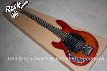 Excellent Feedback Custom Shop Erime Ball StingRay Music man 5 String Bass Guitar Left Handed Elm Body For Sale(China)