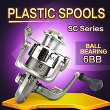 Fishing Reel SC1000-7000 6 Ball Bearings 4.7/5.1:1 Gear Ratio Plastic Spools Spinning Reel Fishing Tackle