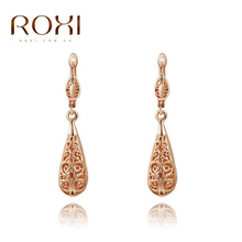 2017 ROXI Exquisite Rose Gold Color Earrings Fashion Jewelrys Nice Earrings For Young Women Party New Arrival Christmas Gifts