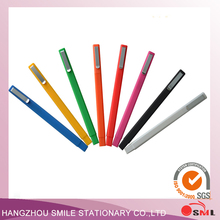 1PCS Hot sell Promotional Square Rubber Colorful ballpoint Stationary Gift Pen