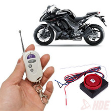 1 Set X Motorcycle Security Alarm System Remote Control Start Vibration Sensor Anti- Theft Device One Way