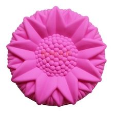 silicone cake mold dessert molds large sunflower styling pastry moulds SCM-003-3(China)