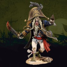 75mm scale monster pirates Resin Model Kit Model figure Free Shipping(China)