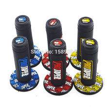 Universal Protaper Grip Motorcycle Dirt Pit Handlebar Rubber Gel Hand Dual Density for pro taper Grips Honda Suzuki BMW(China)