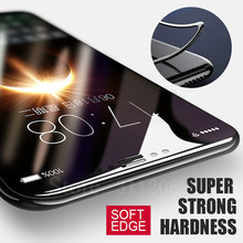 3D 0.23mm Screen Protector Tempered Glass For iPhone X 10 Soft Edge Full Cover Toughened For iPhone 10 X Protective Glass Film(China)