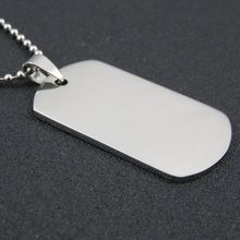 316L Stainless Steel Silver Dog Tags Pendant Stainless Steel Dog Tags Necklace Fashion Jewelry p034