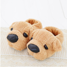 Women Anime Cartoon Dog Slippers Lovers Warm Indoor Woman Slippers Plush Shoes Girl Home Pantufas House Ladies Slippers Children(China)