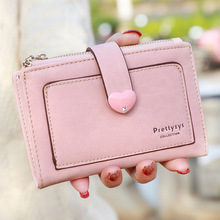 2016 new arrive solid color women wallets,sweet heart design candy color women matte medium wallets,purse bag,lady's clutch.gift