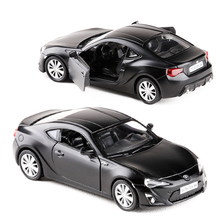 RMZ City 1:36 Toyota 86 Matte Black Toy Vehicles Alloy Pull Back Mini Car Replica Authorized By The Original Factory Kids Toys