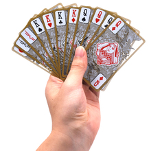 Waterproof Playing Cards Transparent PVC Poker Plastic Playing Cards Gold Edge Gambling Poker Cards Dragon Novelty Gift(China)