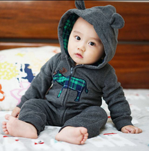Cheap !  Fleece One-piece Newborn Baby Clothes Jumpsuit Baby Boys Girls Rompers Deers England Style Long Sleeve with Hats