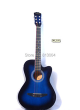 Wholesale OEM free shipping 38 inches the length about 98 cm acoustic guitar  Blue, red, green, purple, the sun, brown
