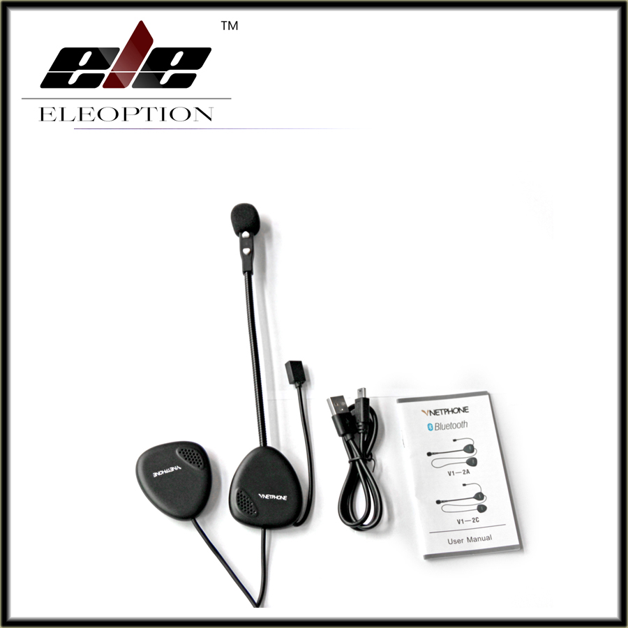 V1-2 Motorcycle Helmet Bluetooth Headset Intercom Stereo Headphones Interphone Free Shipping<br>