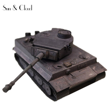 1:35 3D Germany Tiger II Tank Iron Gray Color Painting Paper Model Second World War Assemble Hand Work Puzzle Game DIY Kids Toy(China)