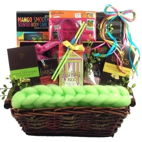 Gift Basket Drop Shipping JuBeTrSp Just Beachy Tropical Spa and Gourmet Gift Basket (1)