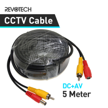 5M DC AV 2in1 Video Power CCTV Camera Cable Security System Accessories