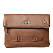Men's New Clutch Travel Fashion Male Handbag Crazy Horse PU Leather IPAD Bag Shoulder Diagonal Messenger Envelope Bags