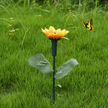 NEW Vibration Solar Power Dancing Flying Butterflies Fluttering Hummingbird Garden Decoration pour le jardin(China)