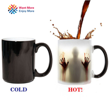 The walking dead Mug color changing Heat Sensitive Ceramic 11oz coffee mug surprise gift(China)