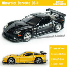 1:36 Scale Diecast Alloy Metal Car Model For Chevrolet Corvette C6-R Collection Model Pull Back Toys Car- Black/Yellow/Red/White
