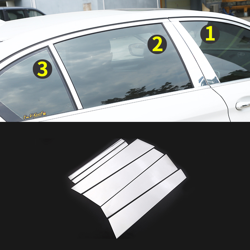 ABS Chrome 6pcs Side Panel Door Body Molding Trim For BMW 5 Series G30 2017 2018