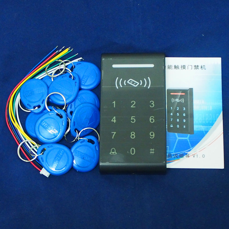 Security RFID Proximity Entry Door Lock Access Control System with Touch Keypad +10 Key Tags<br><br>Aliexpress