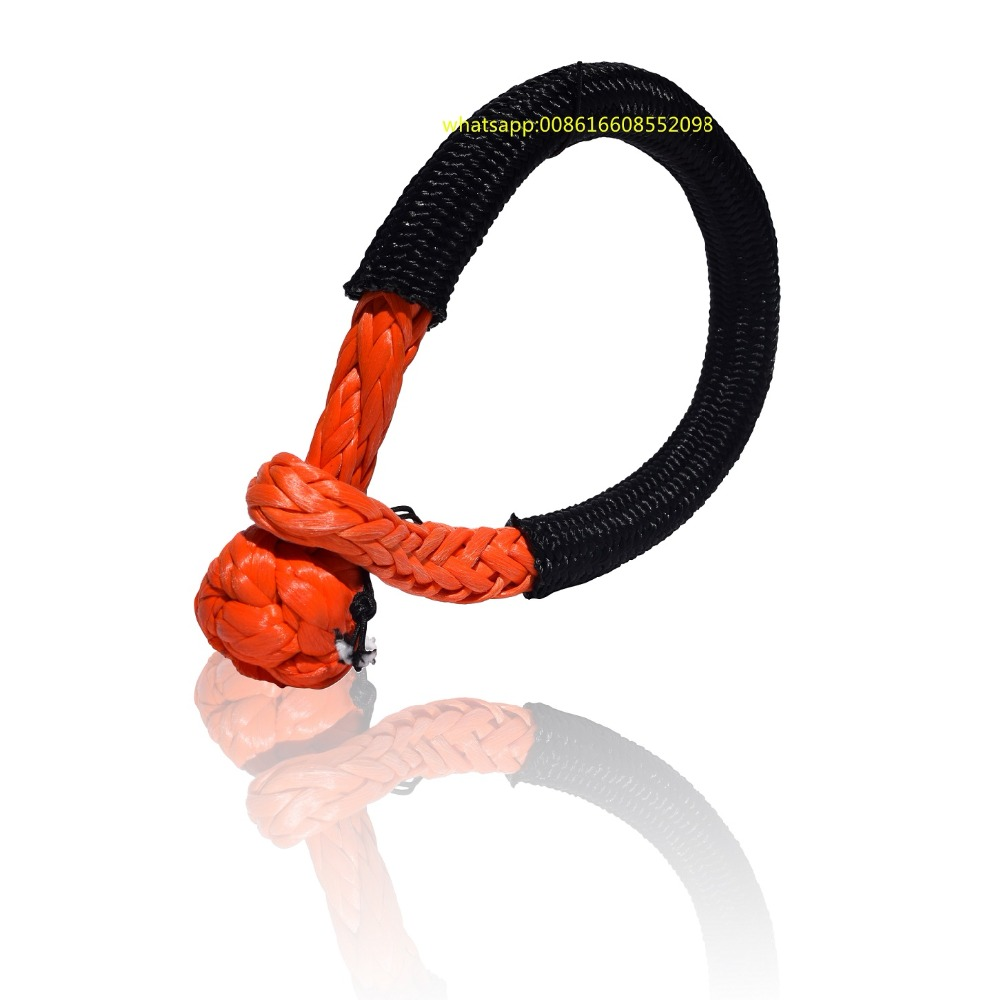 Orange-Rope Shackle Offroad UHMWPE UTV Synthetic 3/8inch for Yacht ATV SUV 10mm--120mm title=