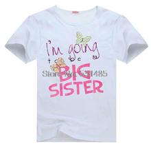 Big Sister Butterfly Preganancy Announcement Outfit Tee t shirt for kid Boy Girl clothing  top  clothes cartoon tshirt Dress