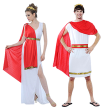 Ladies Greek Goddess Cosplay Roman Princess Costumes Arabic Prince Caesar Fancy Dress Party Halloween Women Men Athena Costume