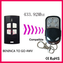 Compatible with BENINCA TO GO 4WV rolling code remote 433.92mhz