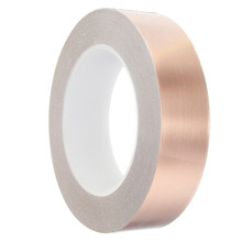 Single Conductive Adhesive Copper Foil Tape EMI Shielding Heat Resist for Electric Guitar 30mmx30m(China)