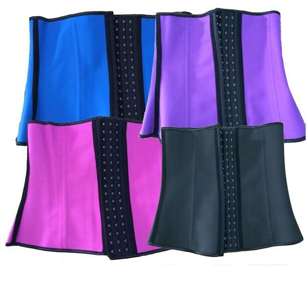 8112 colorful 4 steel bone latex waist cincher