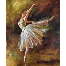 Framed arts by Edgar Degas oil paintings of ballerina Dancer Tilting contemporary pop art beautiful Lady Canvas for home decor(China)