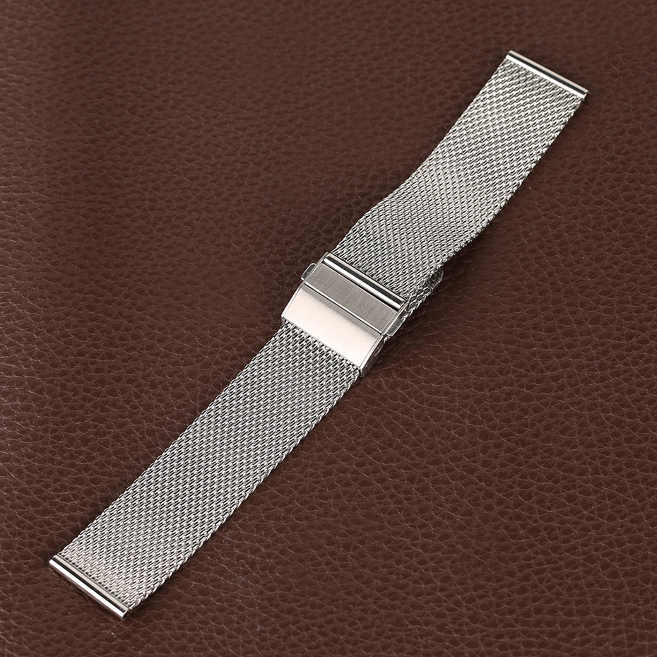 Mesh Milanese Bracelet Clasp Watchbands High Quality 18mm 20mm 22mm Silver Black Wrist Watch Band Strap for Clock Replacement 2018 (36)