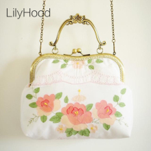 Handmade Embroidery Floral Cotton Handbag Female Shabby Chic Vintage Retro Elegant Feminine Rustic Cottage Shoulder Bag Etsy