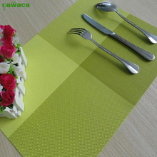 New Arrival Table Mat Modern Square Multi Color PVC Dining Table Pad Placemat for Kitchen Home Decoration Desk Accessories