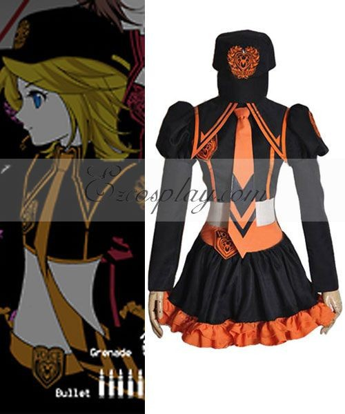 Women's Costumes Vocaloid Family Mart Rin Cosplay Costume E001