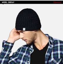 EMS Free Shipping Caps Hats Men Dark Colors Of Wool Beanie With Knitted For Holidays Gifts KM-1180(China)