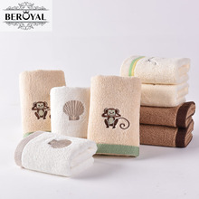 Beroyal Brand 5PC/Lot High Quality Cotton Baby Towel Cartoon Embroidered Kids Face Cloth Colorful Animal Hand Towel Size 28*47cm(China)