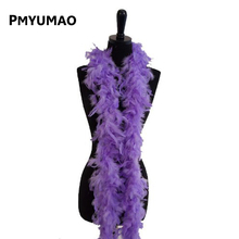1 PCS Christmas Decorative Violet Color Marabou Feather boa Plume Scarf Halloween clothes/Lady Wedding DIY accessories