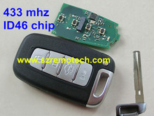 Fit For Hyundai 4 Buttons 433MHz Smart Remote key Hyundai 4 button remote key with 433mhz ID46 chip with TOY40 blade