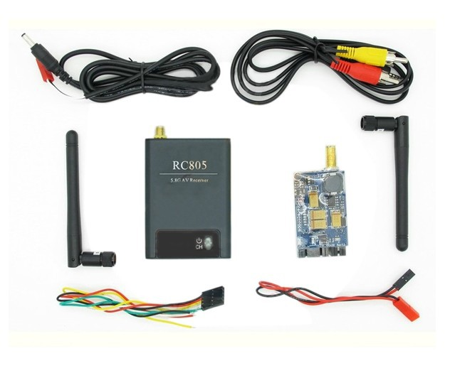 F05577  5.8G 8ch Wireless Audio Video Transmitter Receiver TS353 + RC805 for FPV Multicopter Helicopter <br>