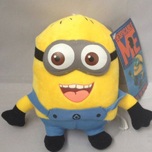 2016 New Creative 18cm Despicable Me Plush Yellow Minion 3D Plastic eye Dolls Bonecos Toys for Children Gift Free Shipping